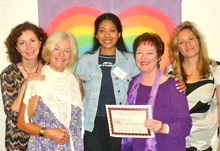 Sunita Singad with Patricia Crane and the Heal Your Life Team UK